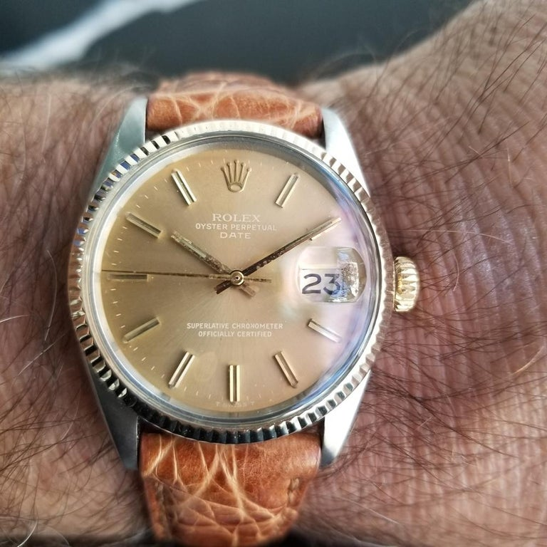 Mens Rolex Oyster Perpetual Date 1505 Automatic, c.1970s Vintage RA146TAN 8