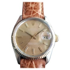 Mens Rolex Oyster Perpetual Date 1505 Automatic, c.1970s Vintage RA146TAN