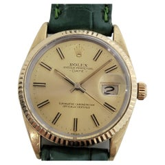 Mens Rolex Oyster Perpetual Date 15505 Gold-Capped Automatic 1980s RA212