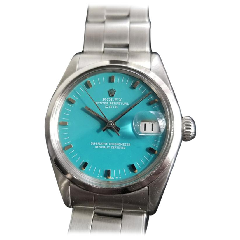 Men's Rolex Oyster Perpetual Date Ref.1500 Automatic, c.1960s Swiss RA112