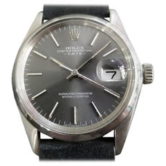 Mens Rolex Oyster Perpetual Date Ref.1500 Automatic, c.1970s Swiss RA110BLK