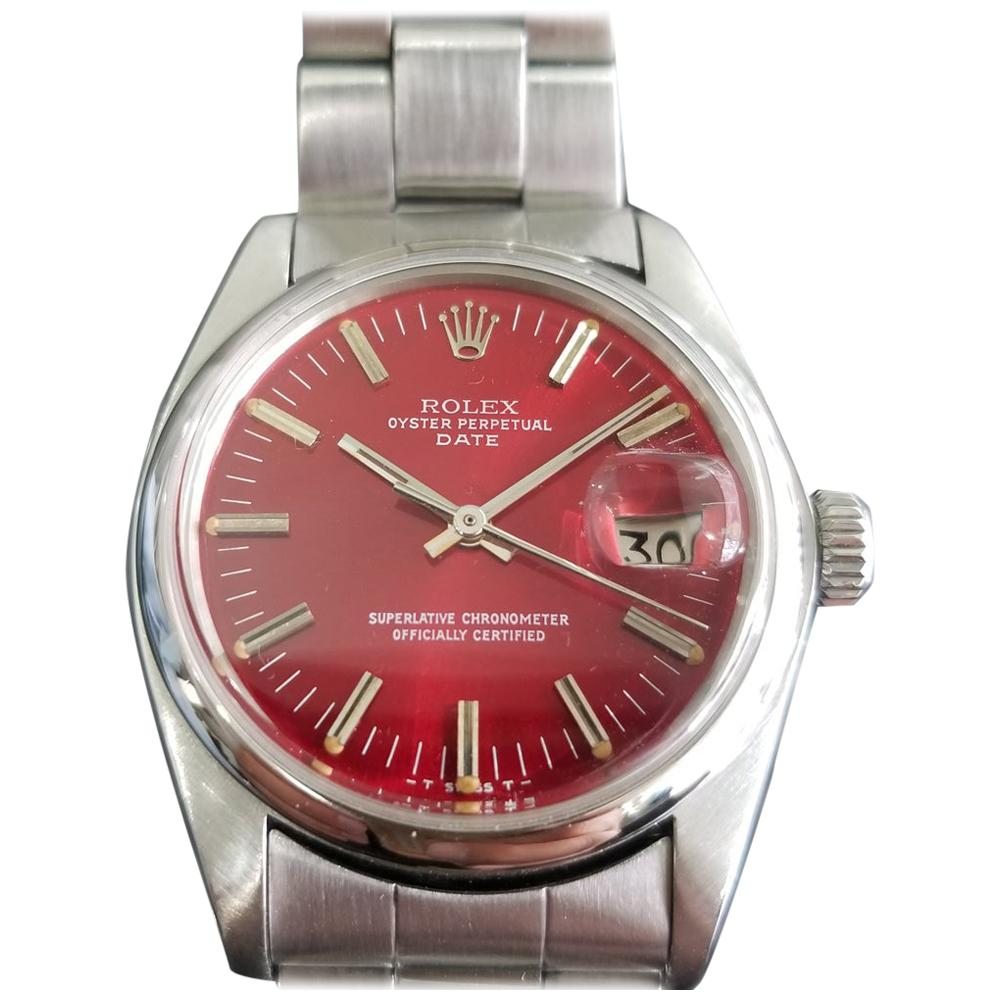 Mens Rolex Oyster Perpetual Date Ref.1500 Automatic, c.1970s Swiss RA113