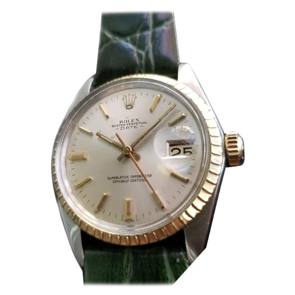 Men's Rolex Oyster Perpetual Date Ref.1500 Automatic, c.1960s Swiss RA148GRN