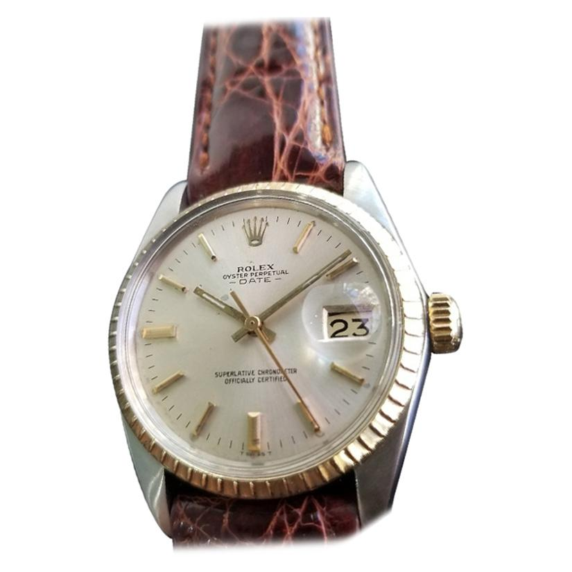 Men's Rolex Oyster Perpetual Date Ref.1500 Automatic, c.1960s Vintage RA148
