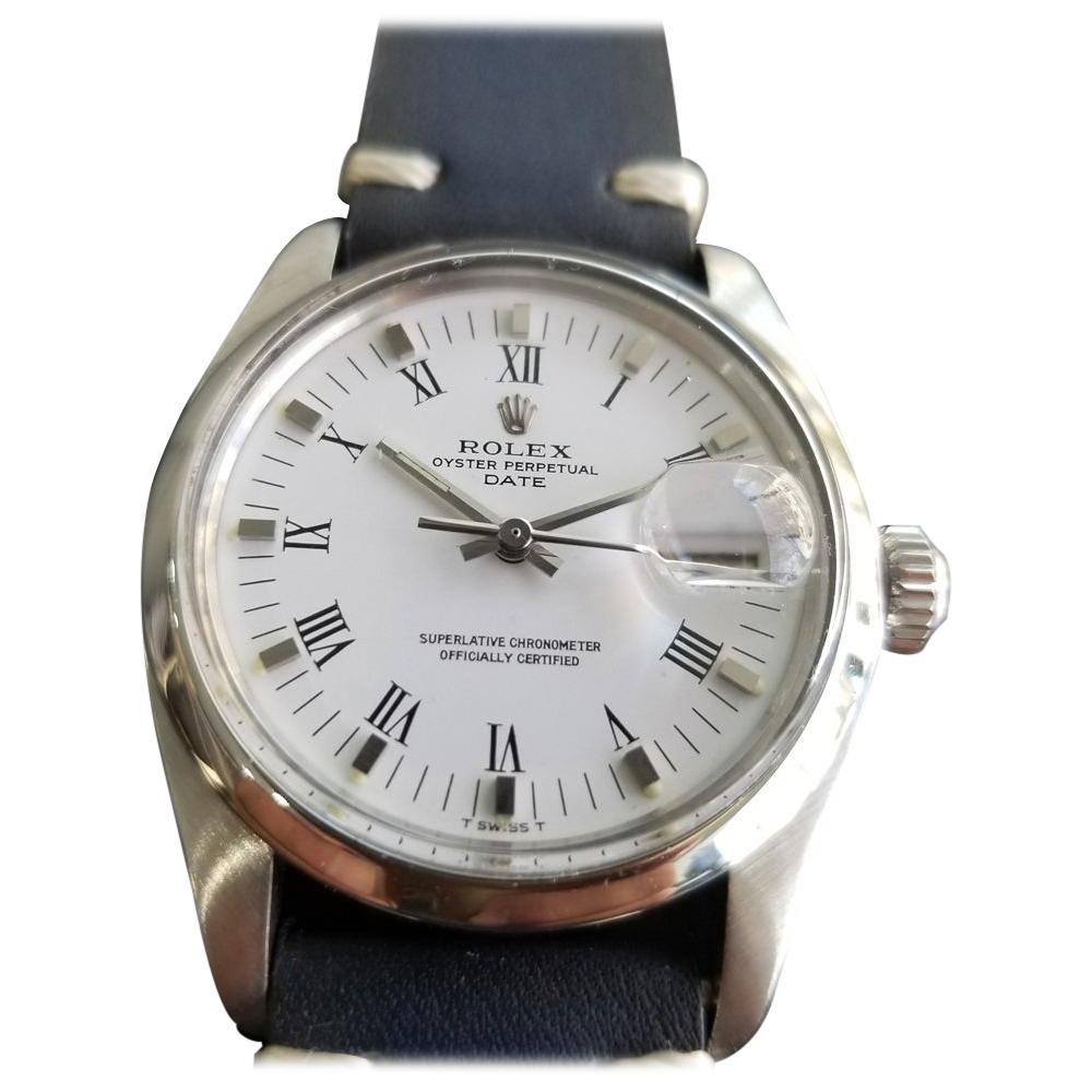 Mens Rolex Oyster Perpetual Date Ref.1500 Automatic, c.1970s Swiss RA132BLU