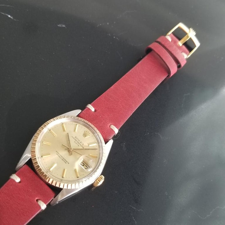Men's Rolex Oyster Perpetual Date Ref.1505 18k & SS Automatic, c.1970s RA136 For Sale 2