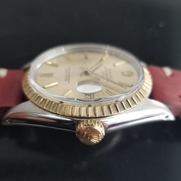 Men's Rolex Oyster Perpetual Date Ref.1505 18k & SS Automatic, c.1970s RA136 For Sale 4