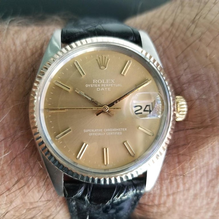 Mens Rolex Oyster Perpetual Date Ref.1505 Automatic, c.1970s Swiss RA146 8