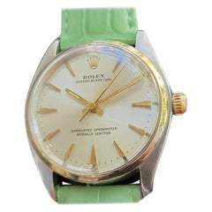 Mens Rolex Oyster Perpetual Ref 1002 14k Gold & SS Automatic 1960s MA213