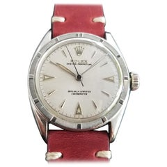 Mens Rolex Oyster Perpetual Ref 6103 Automatic 1950s Vintage RA154RED