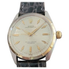 Mens Rolex Oyster Perpetual Ref 6565 14k & SS Automatic 1950s MA208BLK