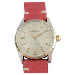 Mens Rolex Oyster Perpetual Ref 6565 14k & SS Automatic 1950s Vintage MA208