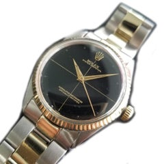 Mens Rolex Oyster Perpetual Ref.5500 34mm 14k Gold & SS Automatic, c.1960s RA103