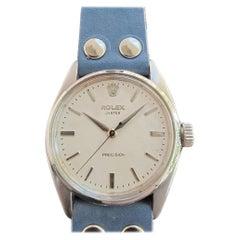 Mens Rolex Oyster Precision Ref 6422 Hand-Wind 1950s Swiss Vintage MA203BLU