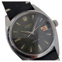 Mens Rolex Oysterdate Precision Ref 6494 Hand-Wind 1950s Vintage RA194