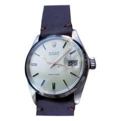 Mens Rolex Oysterdate Precision Ref 6694 Hand-Wind 1970s Vintage LV780