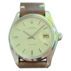 Mens Rolex Oysterdate Precision Ref 6694 Hand-Wind 1980s Swiss MA207