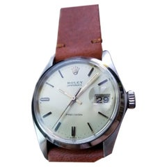 Mens Rolex Oysterdate Precision Ref 6694 Hand-Wind 1970s Swiss LV780TAN