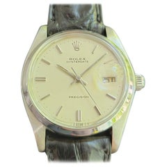 Mens Rolex Oysterdate Precision Ref 6694 Hand-Wind 1980s MA207BLK