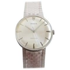 Mens Rolex Precision SS and 18 Karat Gold Manual Dress Watch, circa 1960s MA187