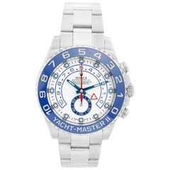 Men's Rolex Yacht-Master II Regatta Watch Stainless Steel Blue Bezel 116680