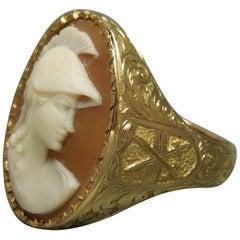 Men's Roman Warrior Cameo and Crossed Swords Ring