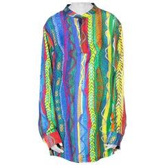 Mens Silk Photo Printed Coogi Shirt