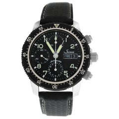Men's Sinn 103 Chronograph Date Stainless Steel Automatic Watch