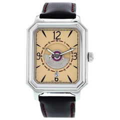 Men's Stainless Steel Perrelet Rectangle Royale Automatic