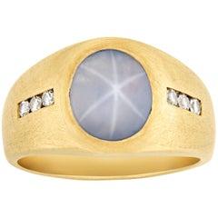 Men's Star Sapphire Ring, 3.00 Carat