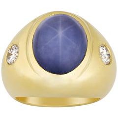 Men's Star Sapphire Ring, 30.25 Carat