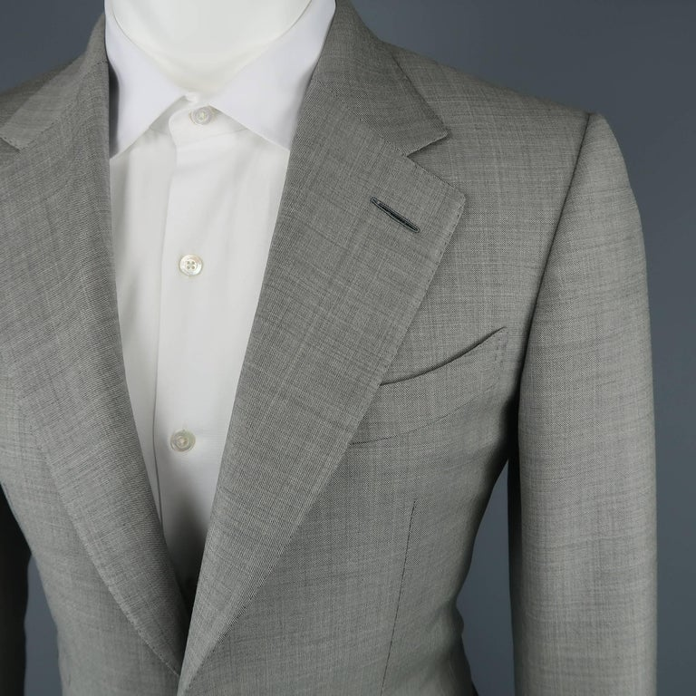 Tom Ford Men S Light Grey Wool 2 Button Notch Lapel Suit For Sale At