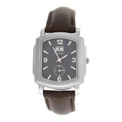 Men's Tourneau 409G-K02 Steel Date Quartz Watch