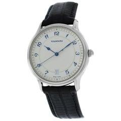 Men's Tourneau Classic 30020A Steel Automatic Date Watch