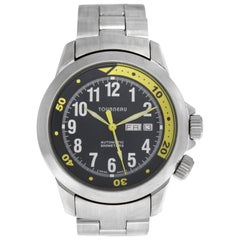 Men's Tourneau T2836 Stainless Steel Automatic Date Watch