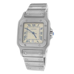 f0347cafa733 Ladies Unisex Cartier Santos Galbee 1564 Steel Diamond Quartz Watch ...