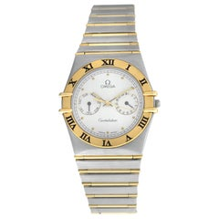 Men's Unisex Omega Constellation 3961069 Day Date Full Bar Gold Watch