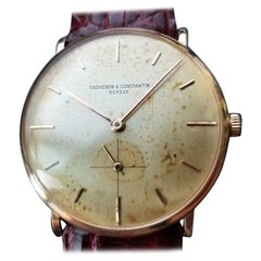 Men's Vacheron & Constantin 18 Karat Rose Gold Hand-Wound Swiss Vintage LV658