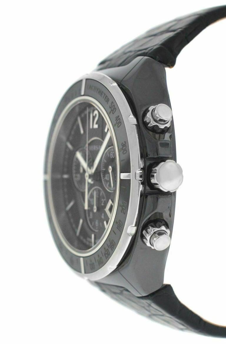 Men's Versace DV One 28CCS9D008 S009 Steel Ceramic Chrono Quartz Watch For Sale 1