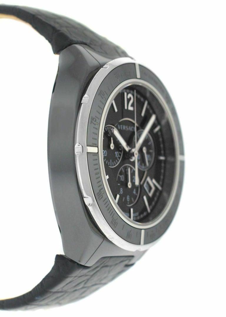 Men's Versace DV One 28CCS9D008 S009 Steel Ceramic Chrono Quartz Watch For Sale 2