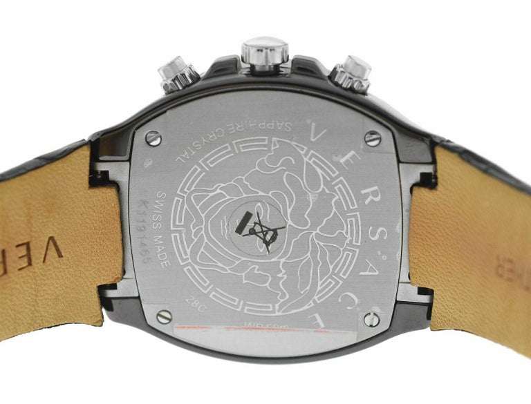 Men's Versace DV One 28CCS9D008 S009 Steel Ceramic Chrono Quartz Watch For Sale 3