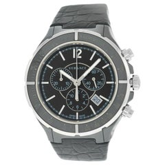 Men's Versace DV One 28CCS9D008 S009 Steel Ceramic Chrono Quartz Watch