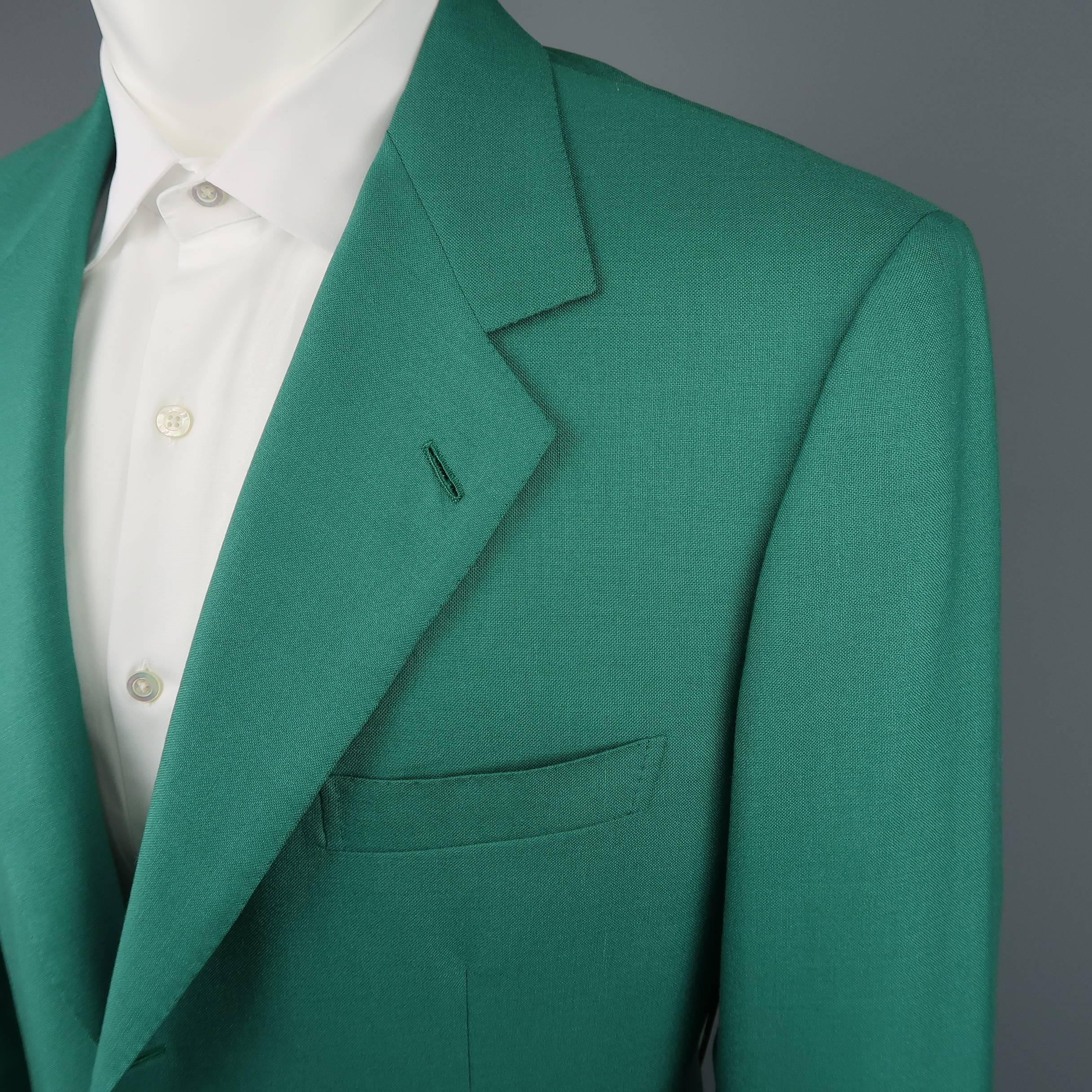 Mens Vintage Brioni 40 Green Cashmere Gold Enamel Button Sport Coat Tailored Jacket With Twin Buttons For Sale At 1stdibs