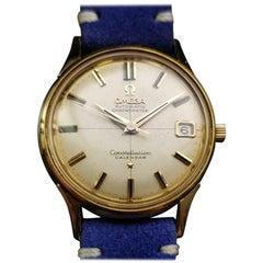 Men's Vintage Omega 18K Gold Constellation Calendar Automatic c.1960 LV662BLU