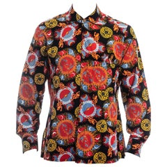 Men's Vivienne Westwood galaxy print cotton shirt and pocket square, ss 1988