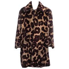 Men's Vivienne Westwood leopard print faux fur coat, fw 1998