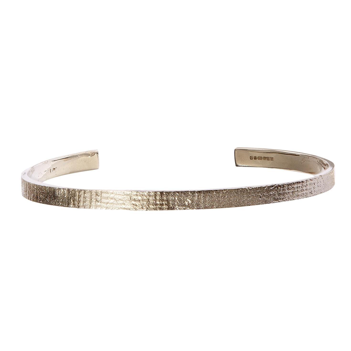 Men's White Gold Paper Cuff Bracelet by Allison Bryan