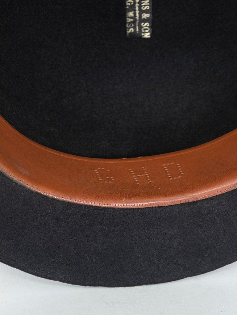 Men's William Lyons Black Fine Felt Bowler Hat – size 7 1/8, 1920s For Sale 4