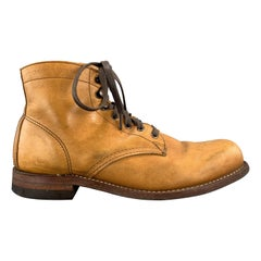Men's WOLVERINE Size 8 Tan Leather 1,000 MILE Ankle Boots