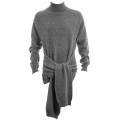 Men's Yohji Yamamoto grey wool four-sleeved knitted sweater, fw 1992